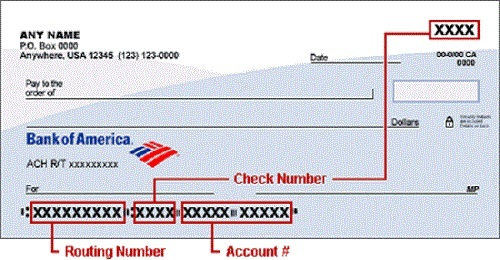 routing number bank of america business checking